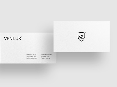 VPNLUX®. Business card. white black minimal logotype logo yukhtenko maicle mike vpnlux branding
