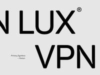 VPNLUX®. Typeface.