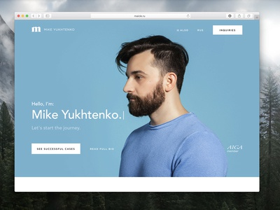 A new look of maicle.ru browser safari macos apple mac minimalism yukhtenko mike site portfolio
