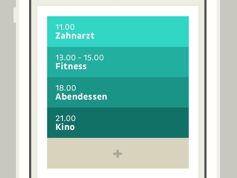 Clyp - Calender - iPhone iphone ios apple interface ui gradient calendar flat simple