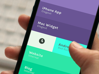 Clogout - Project overview time tracking project management ios 7 minimal gesture simple flat clock
