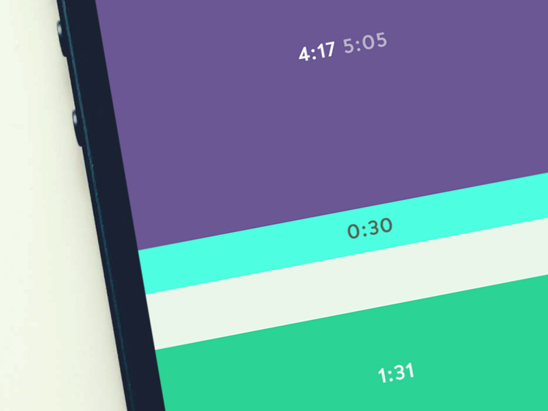 Clogout - Day view time tracking project management timeline ios 7 minimal gesture simple flat clock