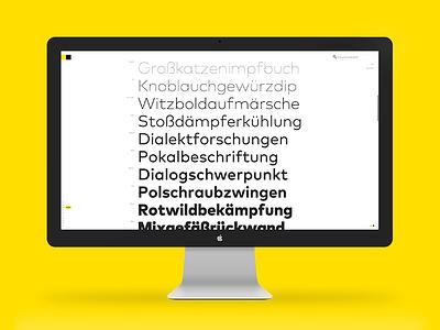 Next FontShop font typeface specimen family responsive web imac 27 fullscreen