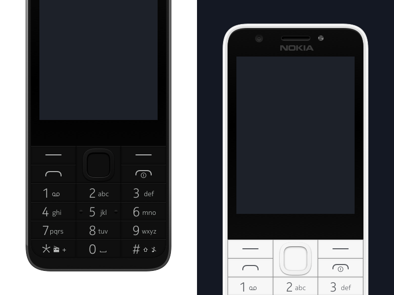 Nokia 230 – Vector Device in Sketch sketch free download nokia feature phone
