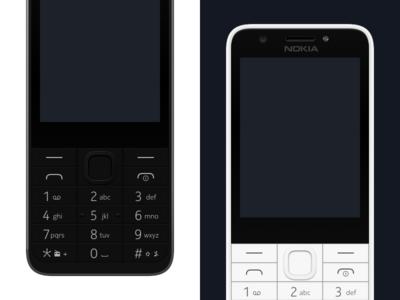 Nokia 230 – Vector Device in Sketch