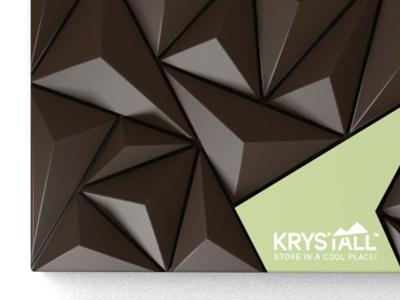 Krystall chocolate scandinavian packaging ice crystal c4d cinema 4d