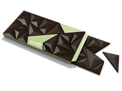 Krystall Opened chocolate cinema 4d c4d crystal scandinavian packaging