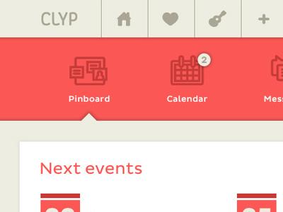 Navigation - clyp navigation icons web ui