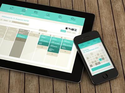 Clyp - Calender - iPhone + iPad ipad iphone ios ui calendar interface apple simple minimalism