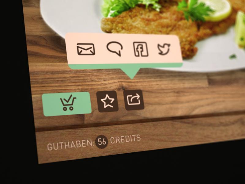 beast - buttons ipad ios food app interface ui