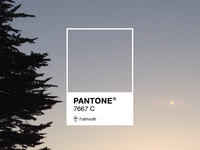 Falmouth Sunset Sky Pantone