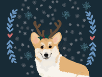 Advent Calendar Day 1: Winter Corgi