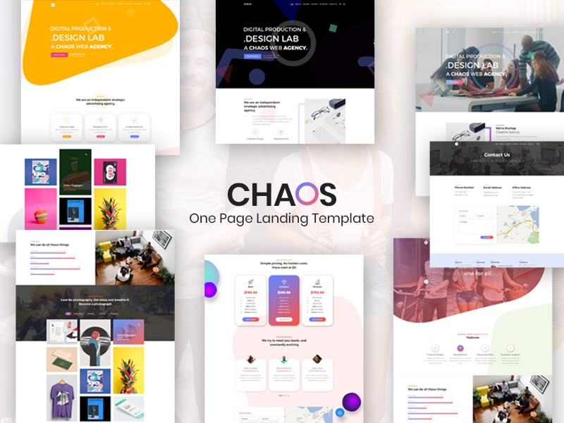 Chaos is One Page Creative Landing Template (themeforest) by