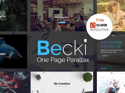 Becki creative parallax one page html template by nadir dribbble 00 thumbnail preview maxwellsz