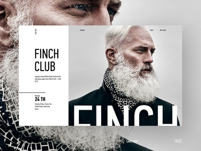 Experimenting simple beard style man finch