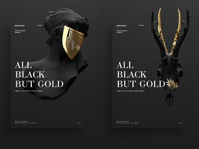 All Black But Gold | Posters exhibitionposter exhibition simple black andrelavrov digitalart fineart series poster