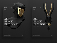 All Black But Gold | Posters