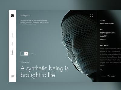 3am site redesign film 3am ui ux simple clean idea design presentation concept