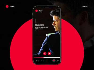 Talks | Listen the best podcast on the go listen entrepreneur bold simple ui app podcast talks