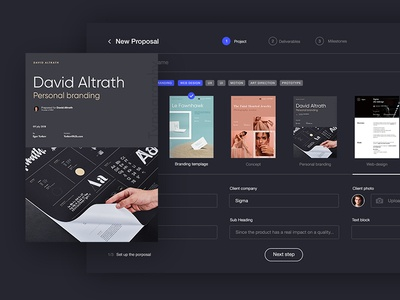 Sigma — a tool for designers [Day 1] impress proposal generator create proposals proposals creative it product ui ux 30 days challenge product design sigma