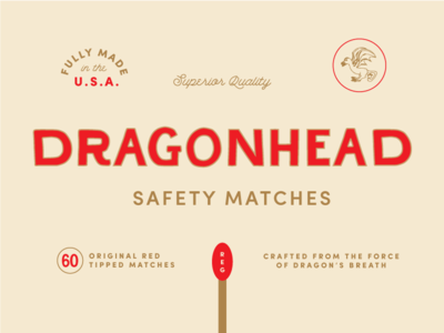 Type Tuesday - Dragonhead Safety Matches