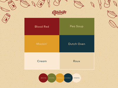 Cookin' With Colors brandguidelines brandsystem vector icon logo dribblerookie graphic design branding design illustration