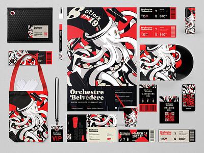 Ochestre Belvedere Brand Identity brand mr mockup festival concert vector identity logo branding design icon typography illustration