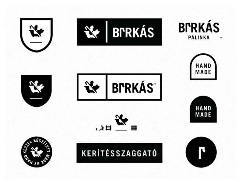 Birkas Palinka (Shephard Fence Wrecker) typography illustration icon label sticker badge type spooky grim reaper reaper ghost pig logo alcohol branding alcohol hungarian hungary palinka