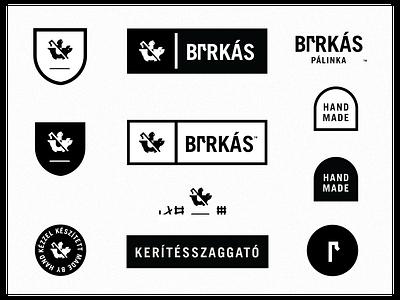 Birkas Palinka (Shephard Fence Wrecker) typography illustration icon label sticker badge type spooky grim reaper reaper ghost pig logo alcohol branding alcohol hungarian hungary palinka