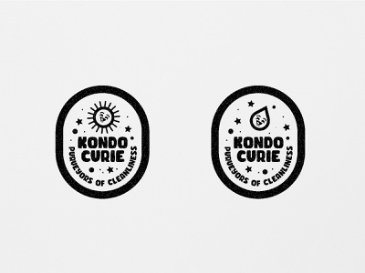 KC Badges identity typography design seal product pin sticker logo water sun badge white black black and white illustration character design branding illustration character