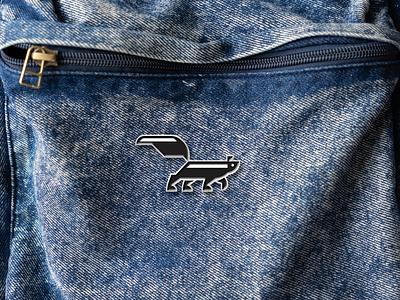 Skunk Pin product merch identity branding brand vector drawing icon logo pin animal skunk