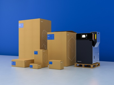 Formlabs Package Design System — Fuse boxes cardboard design system fuse 3d printing 3d blueprint outline technical drawing illustration hardware ux product machine sticker label design package design packaging