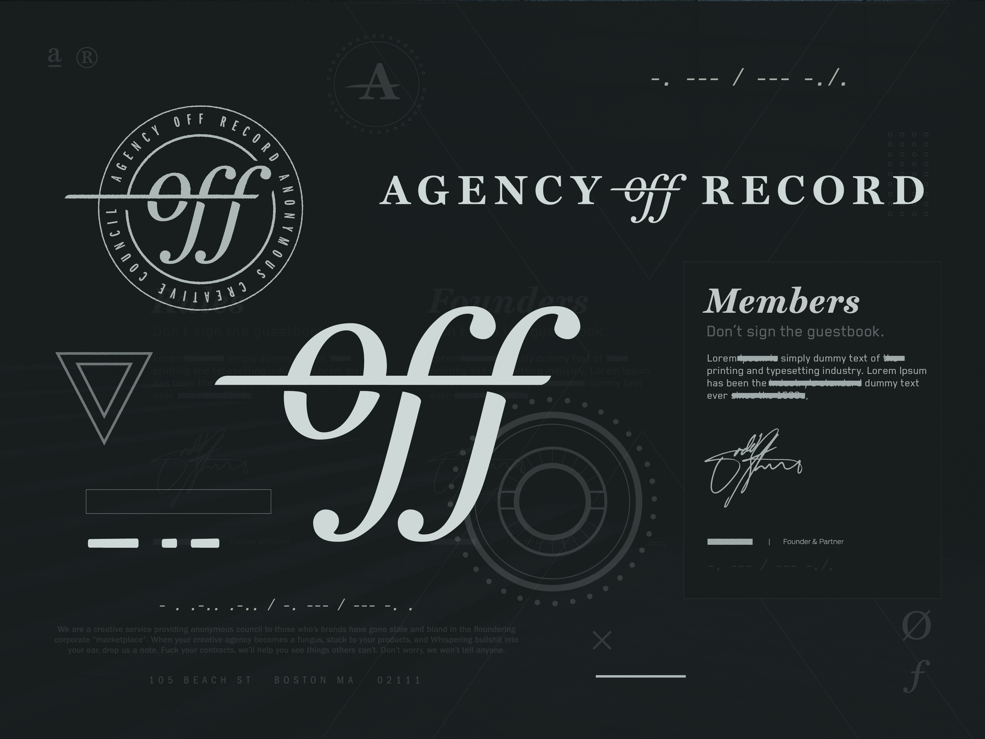 ted pioli / Projects / Agency Off Record | Dribbble