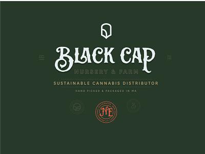 Black Cap Lock up distributor icon logo dispensary farm weed pot identity brand cannabis