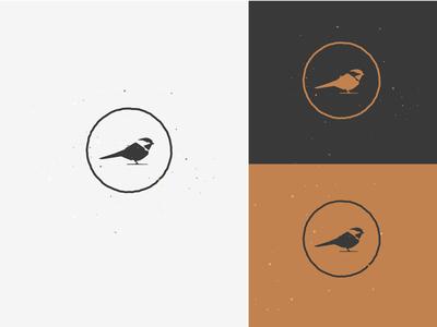 Chickadee brand vector pin patch badge illustration icon chickadee logo bird
