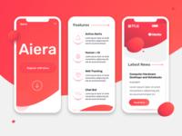 Aiera Launch Website - Mobile