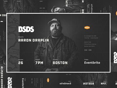 BSDS   Aaron Draplin aaron draplin splash promo event bsds boston