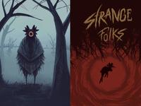 Strange Folks Illustrations