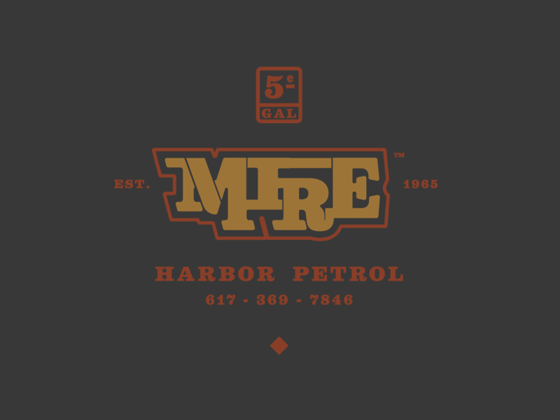 Mire brand identity icon design branding vector vintage nautical ocean oil petrol harbor color layout sketch type thunderdome bay state design shop bsds typography