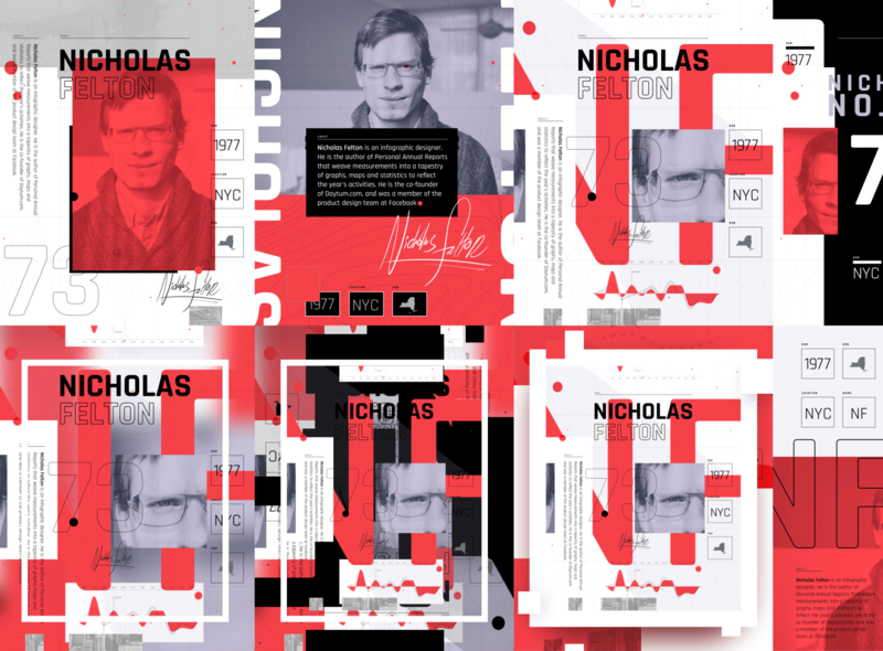 Felton Compositions signature red type felton layout illustration branding design typography