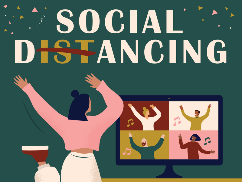 Social distancing..Social Dancing! stay home stayhome covid covid-19 covid19 coronavirus corona corona party party physical distancing virtual dance party dance party alone together zoom video call videocall alonetogether social distancing dance