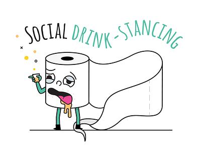 Drunkard stay at home toilet paper character social distancing socialdistancing corona virus rollover toilet paper toiletpaper quarantine stayhome alcoholic alcohol drunk