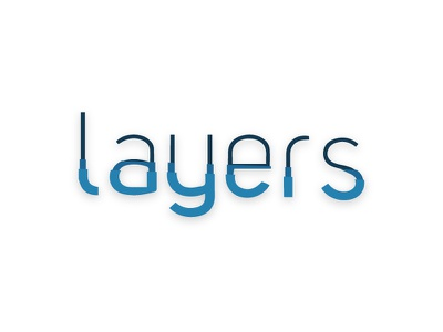 Layers Typography user experience logo graphic design new free font méxico museo blue layers typography