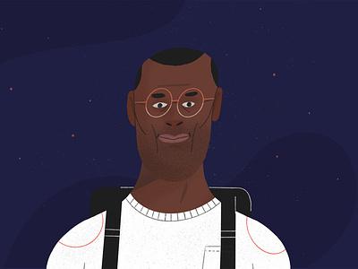 Astronomer illustrate character design illustrator style frame illustration design 2d motion graphics motion design animation