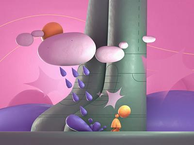 Rainy Legs illustrator illustrate blender3dart blender 3d blender 3d art 3d character design style frame illustration motion graphics motion design animation
