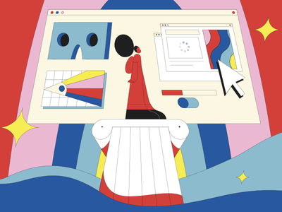 Ezra Klein Show Podcast animator mograph illustrate vector flat character design storyboard style frame illustrator design illustration 2d motion graphics motion design animation