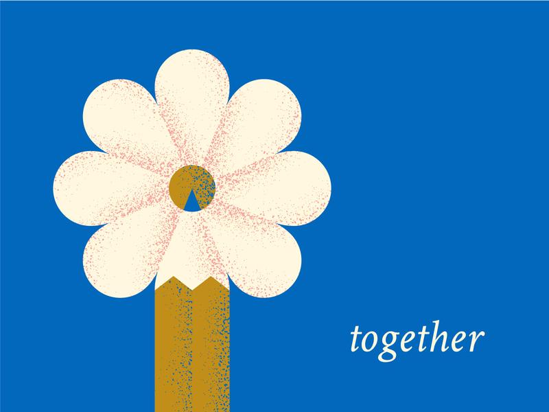 Together Illustration together illustration pencil spring growth flower