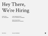 Senior Designer digital brand design hiring job