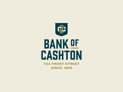 Bank of Cashton Collateral wisconsin bank brand stationery business card envelope letterhead print