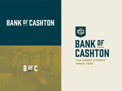 Bank of Cashton Lockups branding wisconsin brand lockups logo shield monogram bank